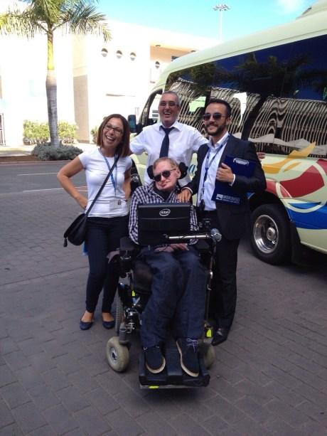 Stephen Hawking in Las Palmas last year.