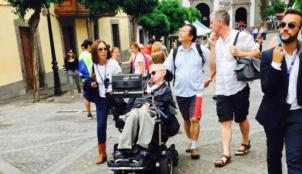 Stephen Hawking enjoyed a tour of Teror and Tejeda