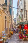 Corfu's narrow streets