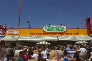 Classic street food on Coney Island.