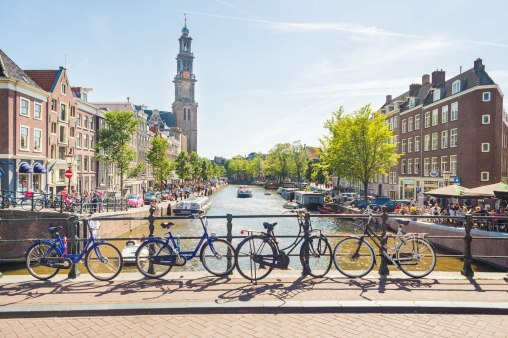 Bicycles & canals in Amsterdam