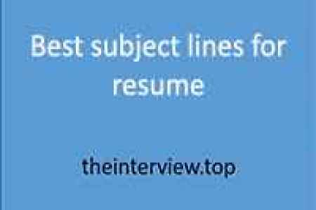 Free Professional Resume » subject line for resume email to ...