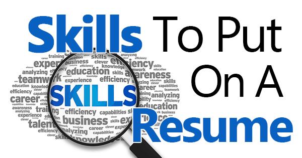 skills to put on a resume