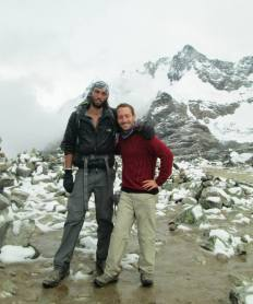 Tom and Dor while hiking the Salkantay pass in Peru