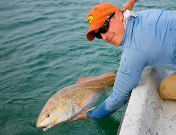Redfish Release Intrepid Angler Capt. Ross Gallagher