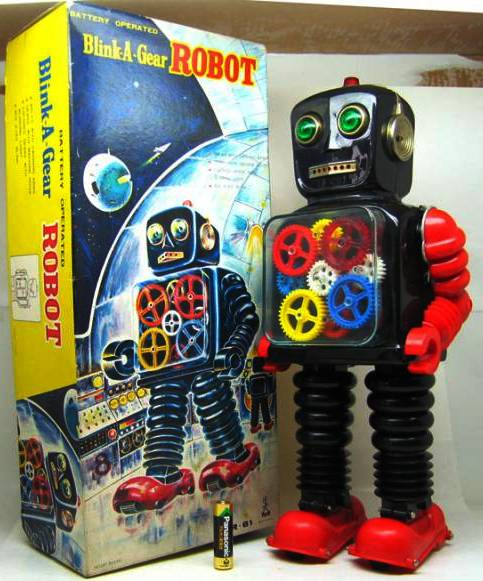 Blink-a-Gear Robot - Taiyo 1969