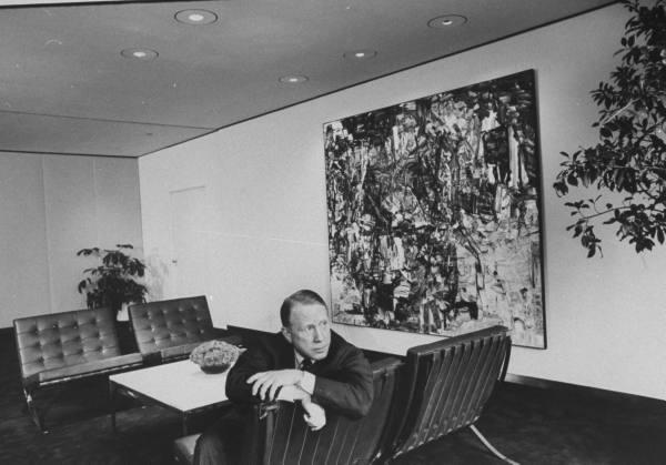 Pres. of CBS Frank Stanton - 1966