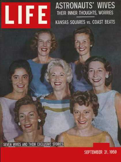 LIFE Magazine Space Wives - September 1959