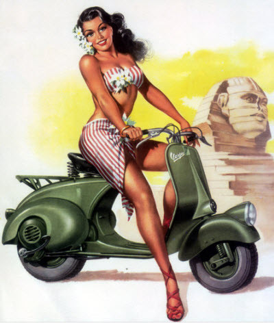Another great Vespa Pin-up