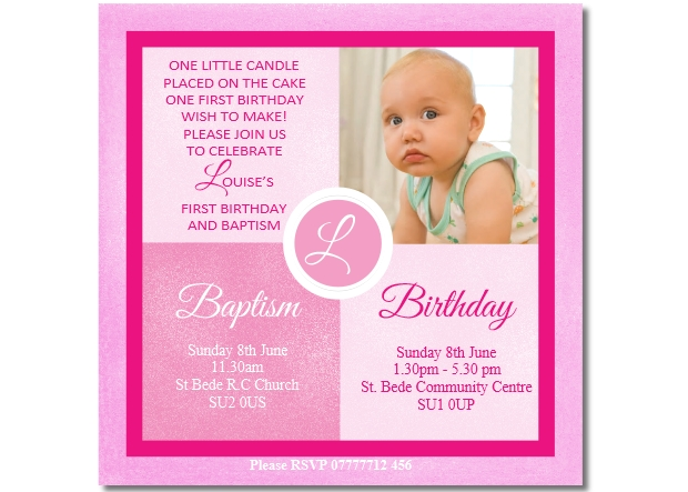 girls joint christening birthday