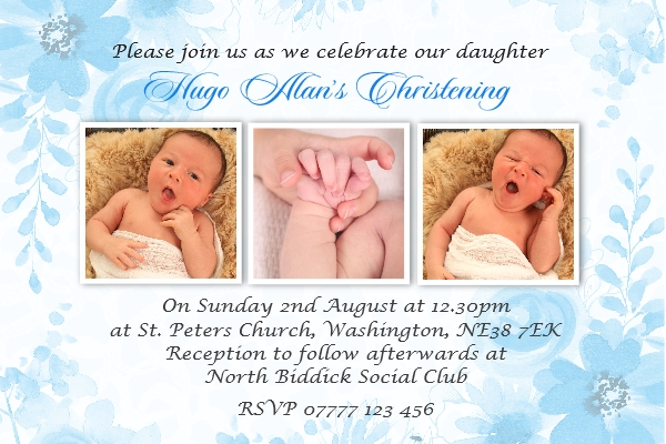boy s christening invitation cards
