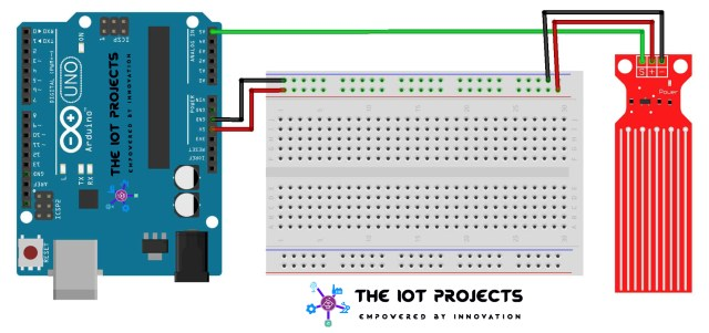 Interface the Water Level Sensor with Arduino
