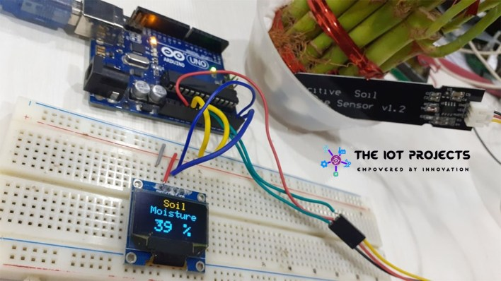 Capacitive Soil Moisture Sensor with  Arduino
