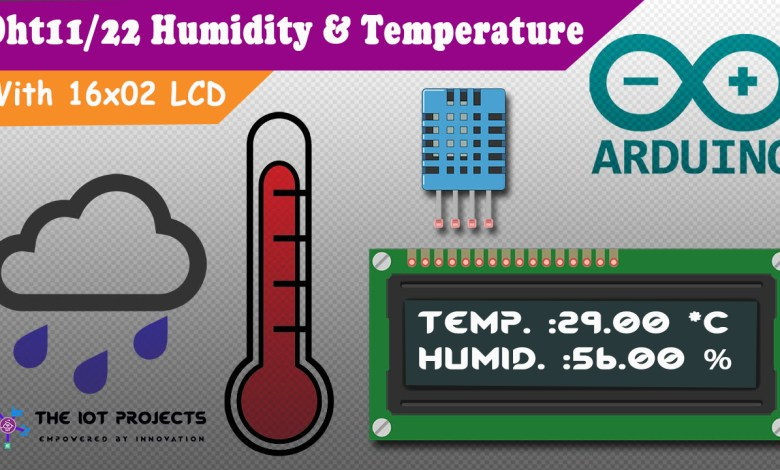 Interfacing DHT11 Humidity and Temperature Sensor with Arduino and LCD