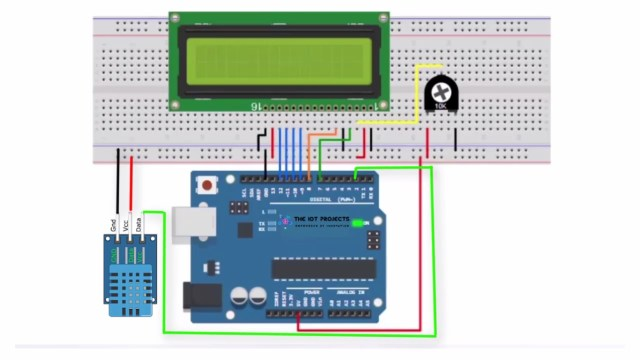 Interfacing DHT11 Humidity and Temperature Sensor with Arduino & LCD