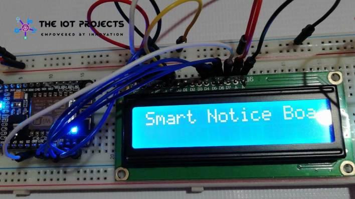 IoT Web Controlled Smart Notice Board using NodeMCU ESP8266