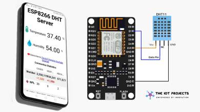 NodeMCU ESP8266 Monitoring DHT11/ DHT22 Temperature and Humidity with Local Web Server