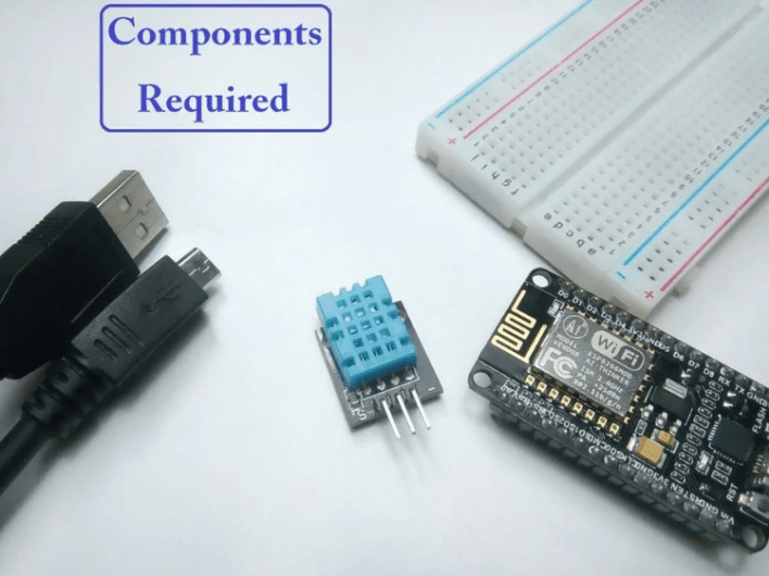 NodeMCU ESP8266 Monitoring DHT11/DHT22 Temperature and Humidity with Local Web Server