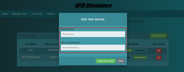 Add New RFID Scanner Device