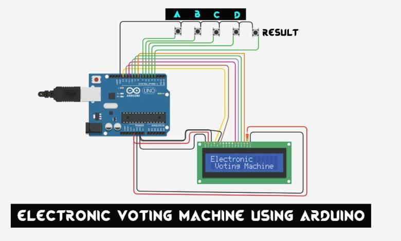 Electronic Voting Machine Using Arduino & LCD Display