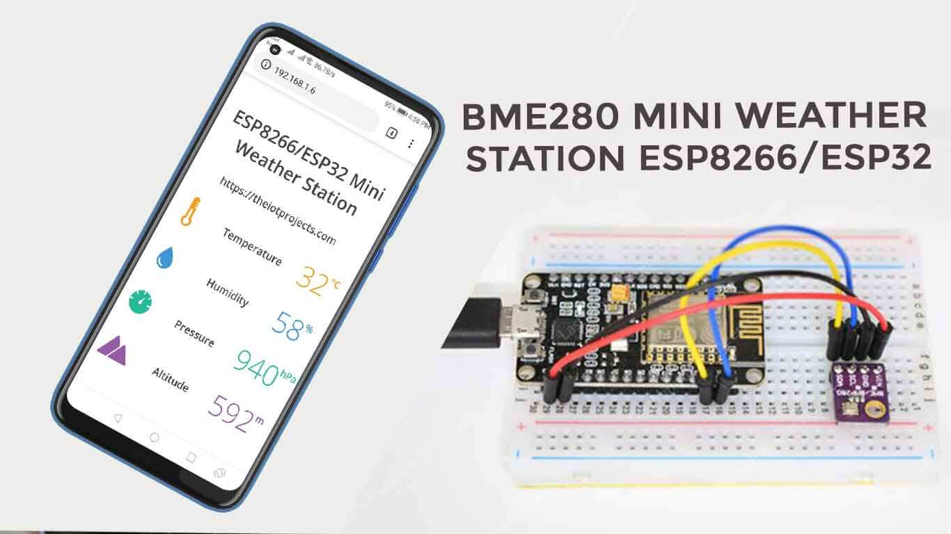 BME280 Based Mini Weather Station using ESP8266/ESP32