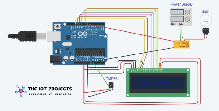 Circuit Diagram Home Automation using Arduino