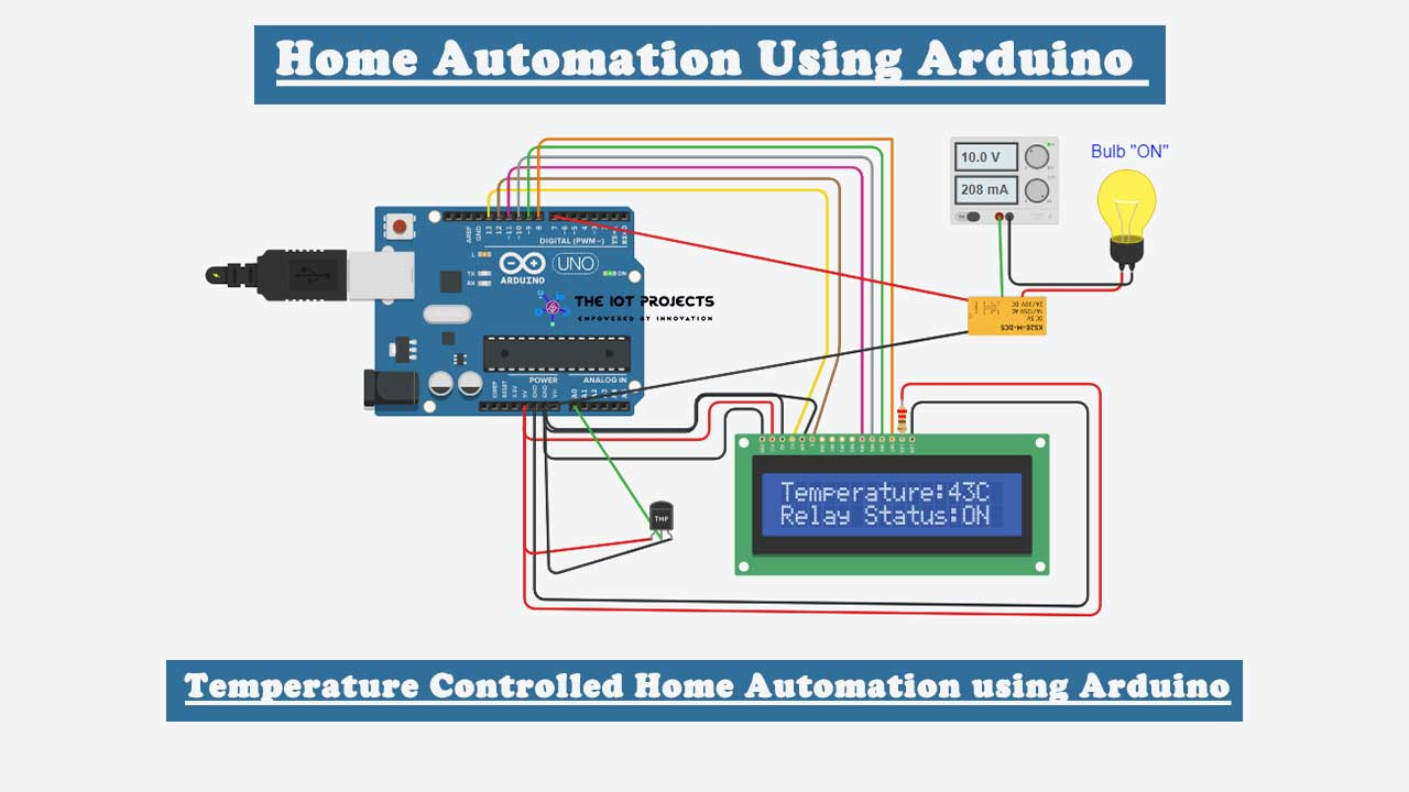 Temperature Controlled Home Automation using Arduino