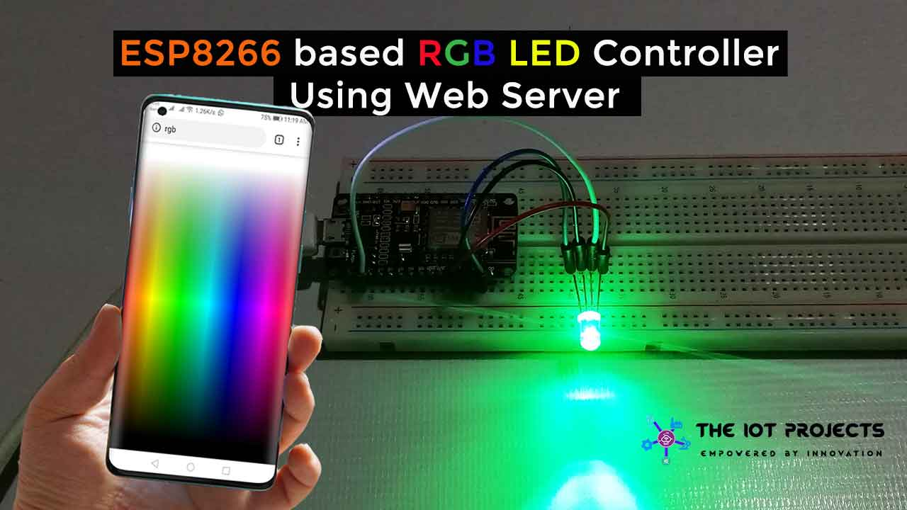 ESP8266 RGB LED Controller Web Server