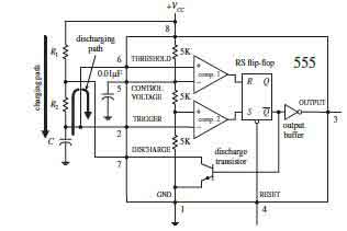 How 555 IC works in Astable Operation