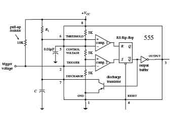 How 555 IC works in Monostable Operation