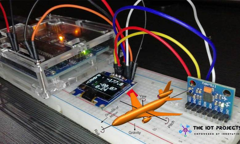 Measure Pitch Roll and Yaw Angles Using MPU6050 and Arduino