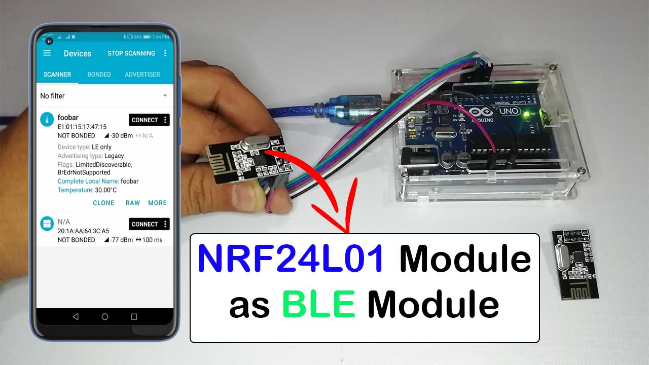 NRF24L01 as BLE Module with Arduino