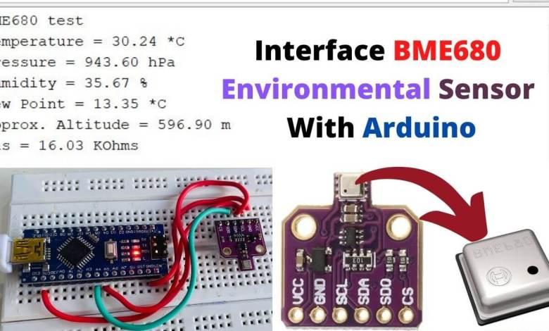 Interface BME680 Environmental Sensor with Arduino