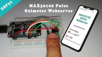 ESP32 based MAX30100 Pulse Oximeter Async Webserver