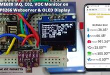Indoor Air Quality Monitoring with BME680, ESP8266 Webserver, and OLED Display