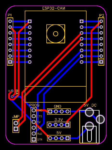 ESP32 CAM board PCB