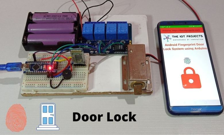 Fingerprint Door Lock System using Arduino and Smartphone