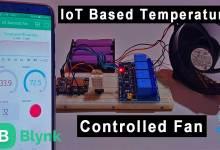 IoT based Temperature Control Fan using ESP8266 & Blynk