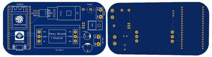 PCB for IoT based Temperature Control Fan using ESP8266 & Blynk project