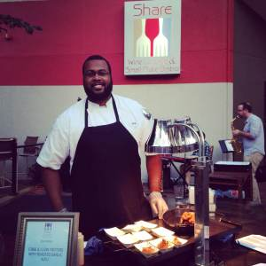 Meet the Sous Chef at Share in downtown Iowa City! Keep the fritters coming!