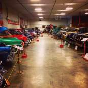 One of the longest rows of history at the Antique Car Museum of Iowa. Please don't ask questions about muffler belts, blinker fluid or flavored lug nuts.