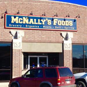 McNally's has been a Grinnell staple for over 100 years. They have the selection and expertise for any local or traveler.  https://www.facebook.com/pages/McNallys-Foods/1442843339293192