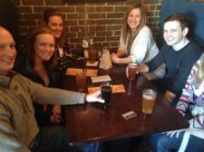 Like I said, we weren't the only ones tipping back the craft at Front Street Brewery in Davenport, IA!