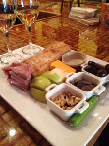 We needed a snack and Luna was all over it. Out came a platter of warm artisan bread, fresh Granny Smith apples, cheese, sliced meats, olives, walnuts and fine chocolate. The empty dish is for your olive pits. I learned that!