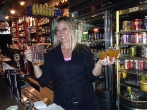 Teaching art to UNI's students during the day and serving up the Blue Room's famous Crush cocktails at night is April. And she gets hours in at the Blue Room Lounge....wait for it....FOR FUN!