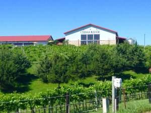 Right in between Cedar Rapids & Iowa City is Cedar Ridge Vineyards.  https://twitter.com/CedarRidgeIowa