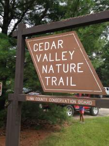The campsite can wait. Take a tour of Hiawatha on the Cedar Valley Nature Trail. http://linncountytrails.org/maps/find-a-trail/cedar-valley-nature-trail/