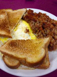 The #12. One of my all-time favorite meals. Corned beef hash and eggs with buttered toast. The hash is made from scratch and is talked about all over Hiawatha. Thanks, George!  https://www.facebook.com/pages/Oscars-Restaurant/458149434223381?fref=ts
