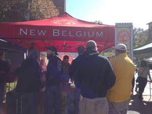 And the breweries came from far. New Belgium was just one of many vendors that brought their craft to Iowa City on this day.