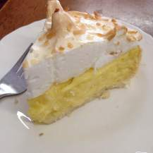 Coconut cream pie with meringue. I'd get to From the Ground early for that one.